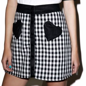 Heart pocket skirt